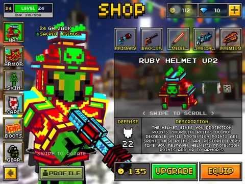Pixel Gun 3D: FULL RUBY ARMOUR