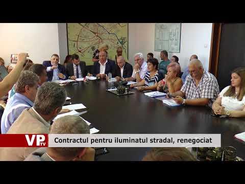 Contractul pentru iluminatul stradal, renegociat