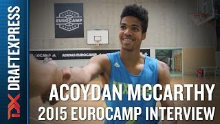 Acoydan McCarthy Interview at the 2015 adidas EuroCamp
