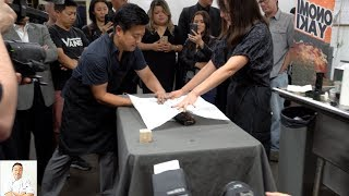 Live Gyotaku Art | 16 Year Celebration Sushi School Institute by Diaries of a Master Sushi Chef