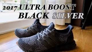 NEW 2017 Adidas Ultra Boost 3.0 BLACK GREY/BLACK SILVER Unboxing & Review