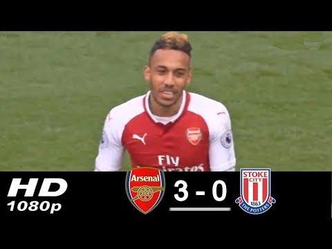 Arsenal vs Stoke City 3-0 • All Goals & Highlights • Aubameyang scored 2 goals • 2018 HD