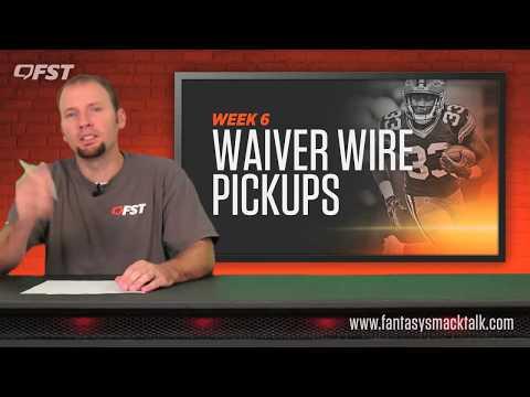 Fantasy Football: Week 6 Waiver Wire Pickups thumbnail