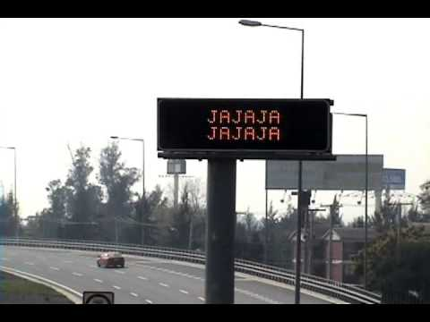 video que muestra un accidente en la autopista