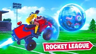 ROCKET LEAGUE in FORTNITE! ft. Lazarbeam, NoahJ456 & AlexAce