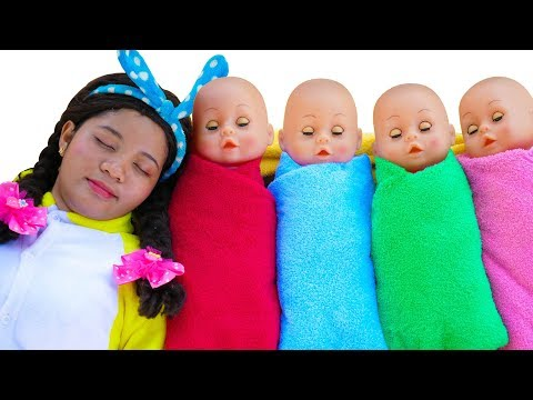 Are you sleeping Brother John, Linda Pretend Play with Baby Dolls