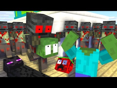 Monster School : Zombie Apocalypse Wither Skeleton Challenge - Minecraft Animation