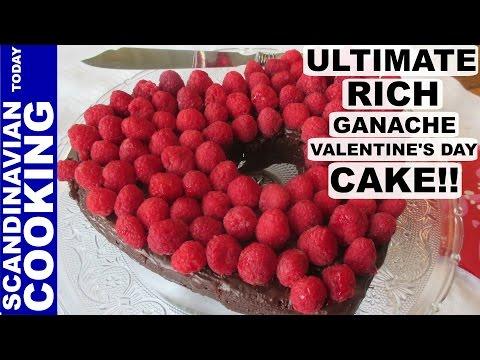 Chocolate Ganache Cake with Raspberries – Chokoladekage med Chokolade Glasur og Hindbær.