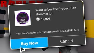 I Spent 10,000 ROBUX On The BAN HAMMER In Zombie Rush!! (Roblox Egg Hunt 2020)