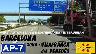 Vilafranca del Penedes Spain  city images : AP-7 Barcelona , Autopista del Mediterráneo , Zona Vilafranca del Penedès / Highways in Spain