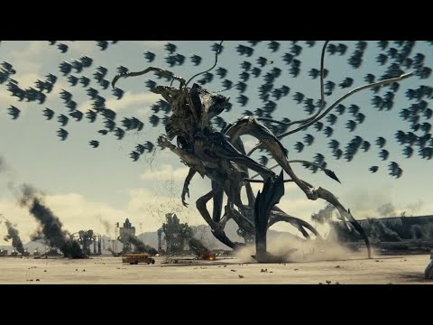 Killing Alien Harvester Queen Final Fight Scene (Independence Day: Resurgence)