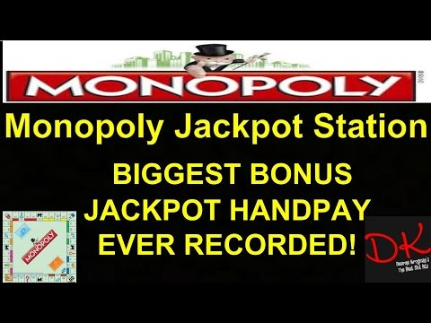HUGE!!!$5,000+ MONOPOLY JACKPOT STATION MAX BET BONUS!! BIGGEST EVER RECORDED