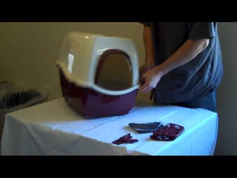 Bill Hooded Cat Litter With FIlters Tray Assembly Video