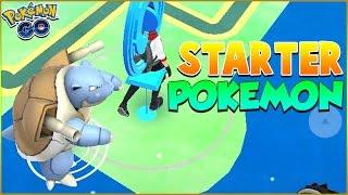 CATCHING EVOLVED STARTER POKEMON IN POKEMON GO! CRAZY GYM BATTLES WITH EVOLVED STARTER POKEMON! WOW!