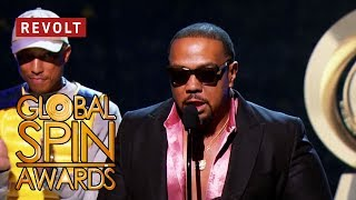 Video Pharrell presents Timbaland with Lifetime Achievement Award | Global Spin Awards download in MP3, 3GP, MP4, WEBM, AVI, FLV January 2017