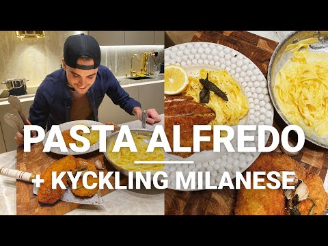 Pasta Alfredo & Chicken Milanese