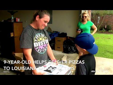 這位9歲小男孩過生日時張父母「訂100個披薩」,跟著下來他現身的地方讓大家都感動到噴淚…