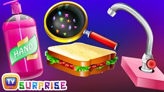 Surprise Eggs Nursery Rhymes Toys  Wash Your Hands  Good Habits For Children  ChuChu TV