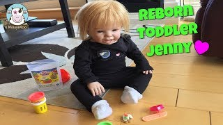 Play doh - Reborn Toddler Doll Jenny playing with Play-doh  Missy Moo