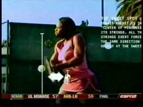 Serena Williams - incredible backhand