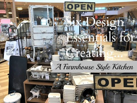 Six Design Essentials:  Farmhouse Style Kitchen