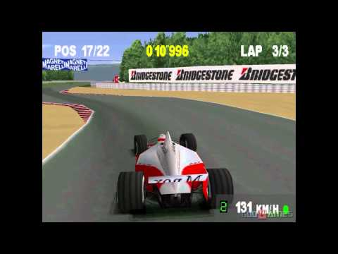 Monaco Grand Prix  Racing Simulation 2 - Gameplay PSX (PS One) HD 720P (Playstation classics)