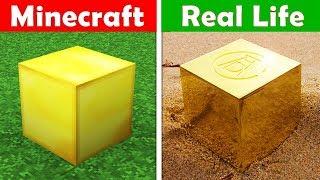 Video GOLD BLOCK IN REAL LIFE! Minecraft vs Real Life animation CHALLENGE MP3, 3GP, MP4, WEBM, AVI, FLV Juni 2019