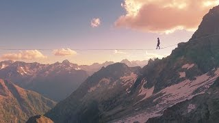 Highline Record in the French Alps - Longest Line at Over 3000m! by Red Bull