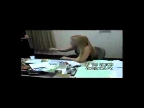 Naked woman in a police station in Brazil