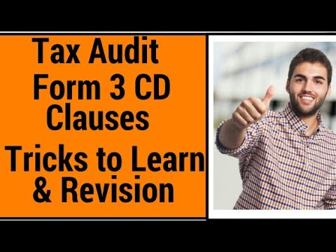 How To Learn Clauses Of Form 3 Cd ? , Tax Audit, Fiscal Audit, Ca Final Nov 2017