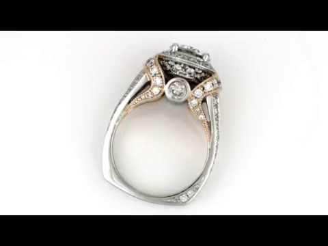 Handmade Platinum and 14k Rose Gold Ring