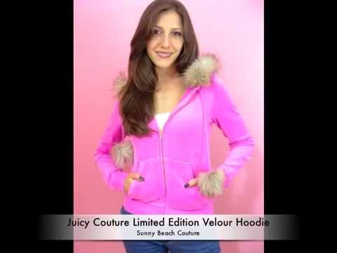 Juicy Couture Limited Edition Velour Hoodie with Faux Fur