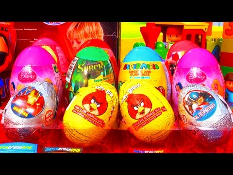 12 Surprise Eggs SpongeBob Angry Birds Marvel Hello Kitty Disney Barbie Super Mario Power Rangers