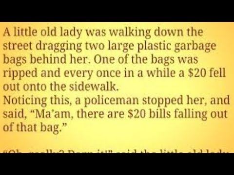 Old Lady Gives Police Hilarious Explanation When They Question Her About A Big Bag Of Cash