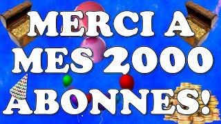 Merci pour mes 2000 abonnés - GAGNE 2000 PIÈCES D'OR