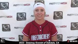 2023 Delainey Everett Pitcher and First Base Softball Skills Video - Firecrackers