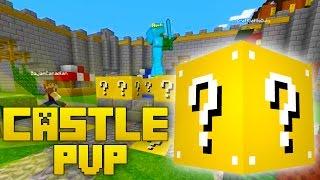 LUCKY KING WOOFLESS! Minecraft Modded Castle PvP w/ Lucky Blocks!