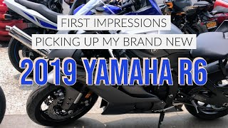 3. Picking up my first Supersport Bike - 2019 Yamaha R6 - First Impressions