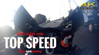 3. Aprilia RSV mille TOP SPEED [ 4K ]