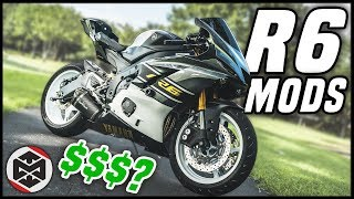 10. 2017 Yamaha R6 Mods!! Total Cost?