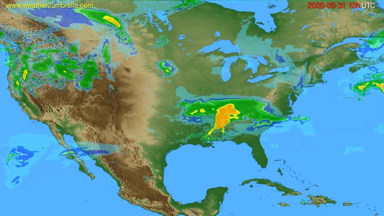 Radar forecast USA & Canada // modelrun: 00h UTC 2020-03-31