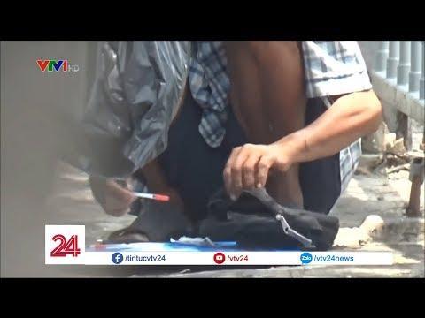 Tiêm chích ma túy công khai trên đường phố   VTV24 - Thời lượng: 118 giây.