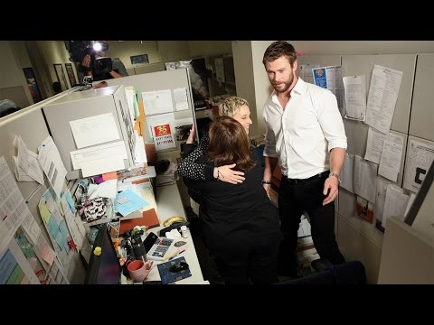 Ellen and Chris Hemsworth Office Surprise