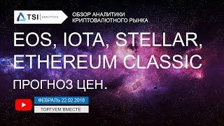 EOS, IOTA, Stellar(XLM), Ethereum Classic — прогноз цен | Прогноз цен на Биткоин, Эфир, Криптовалюты