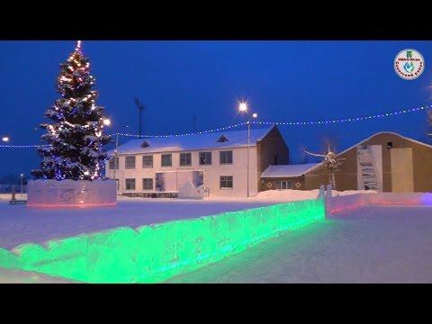 Новогодний город Советский ХМАО. январь 2015_год