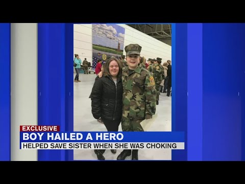 Young Marine saves sister's life video on YouTube