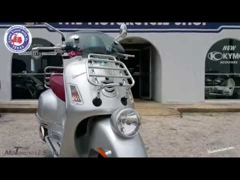2015 Vespa GTV 300ie at the San Antonio Motorcycle Shop