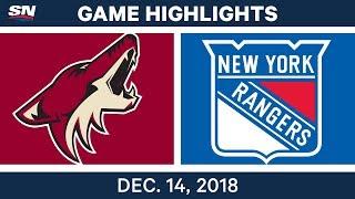 NHL Highlights | Coyotes vs. Rangers - Dec 14, 2018 by Sportsnet Canada