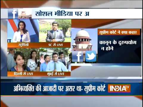 Supreme Court Declares Section 66a Of It Act Unconstitutional - India Tv