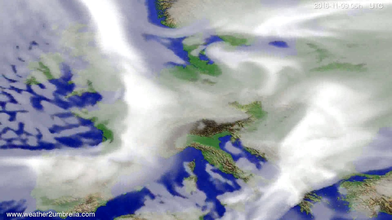 Cloud forecast Europe 2016-11-06